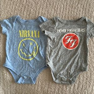 Baby boys band tee onesies Size 6-9 months